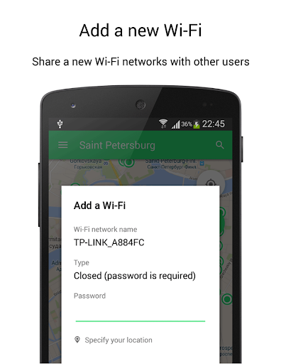 WIFI MAP- passwords & places - screenshot