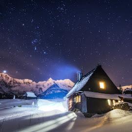 Starry night by Pawel Uchorczak - Landscapes Mountains & Hills ( tatra, best, poland )