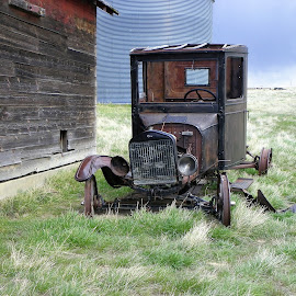 Abandon Model T Truck by James Oviatt - Transportation Automobiles