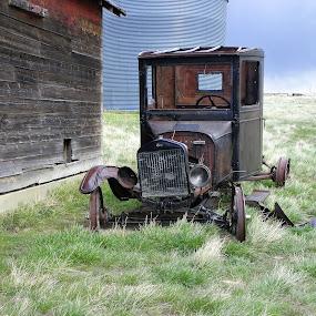 Abandoned Model T Truck by James Oviatt - Transportation Automobiles