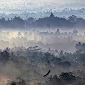 BOROBUDUR MISTYC by Arif Otto - Landscapes Cloud Formations ( borobudur #mistyc )