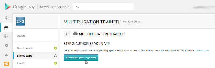 Google Play Game services game 5