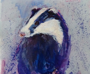 Badger Badger Mixed Media 6x6""