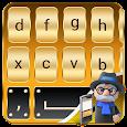 Gold Keyboard: Gold Mobile Keyboard 2018