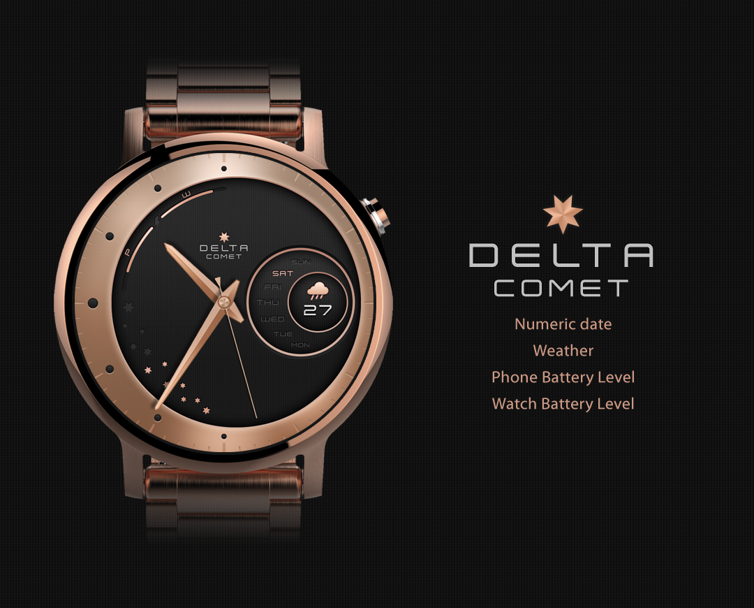 Comet watchface by Delta Screenshot 4