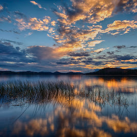 Adirondack Sunset by Jonathan Rush - Landscapes Sunsets & Sunrises ( hdr, waterscape, blue hour, sunset, landscape )