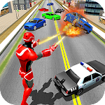 Flying Superhero Robot Rescue 3D Icon