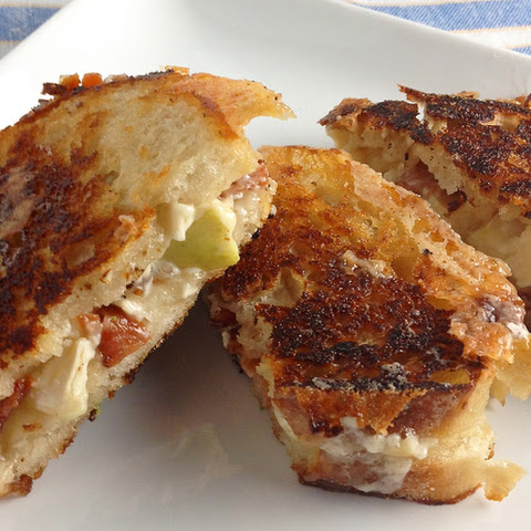 Brie Apple and Bacon Grilled Cheese Sandwiches