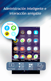 C Launcher Temas Fondos Iconos Screenshot