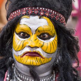 Antique Face by Nazneen Siddique - People Body Art/Tattoos ( tough face, face of fun, funny face, excellent face, facial )