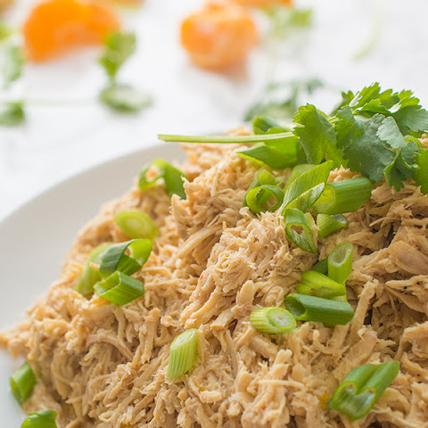 Asian Citrus Slow Cooker Shredded Chicken