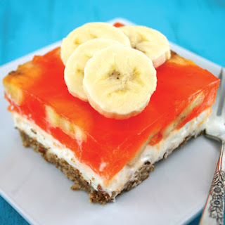 Orange Banana Pretzel Salad