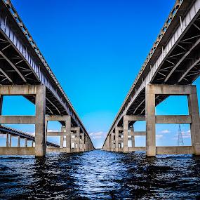 I-95 Bridge by Danny Robbins - Buildings & Architecture Bridges & Suspended Structures ( bridge water )