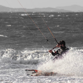 kite surfer by Olivier Dilmi - Sports & Fitness Watersports ( watersport, canon, surfing, surfer, kite, sports, men, 600d, surf )