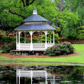 Hugh McCrae Park by Vickie Hibler - City,  Street & Park  City Parks ( wilmington, city park, gazebo, north carolina )