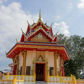 Wat Chayamangkalaram or Sleeping Budha  by Viorel Stanciu - Buildings & Architecture Places of Worship ( george town, sleeping budha, malaysia, penan, wat chayamangkalaram )