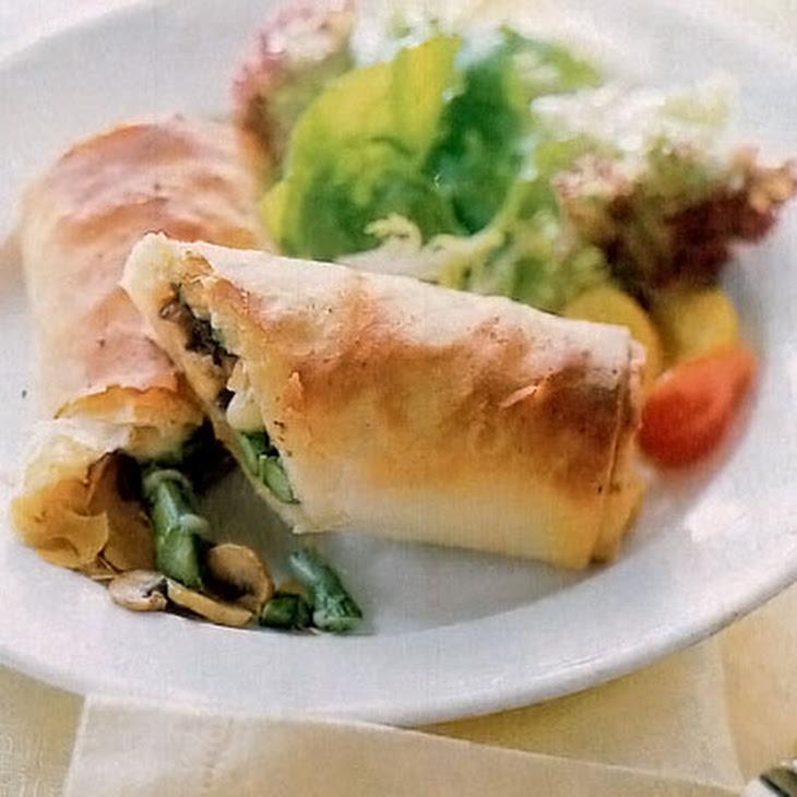 Asparagus, Mushroom, and Gruyère Strudel Recipe | Yummly