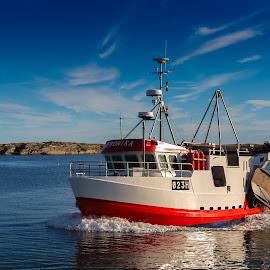 The fishing boat Veronika by Svein Hansen - Transportation Boats