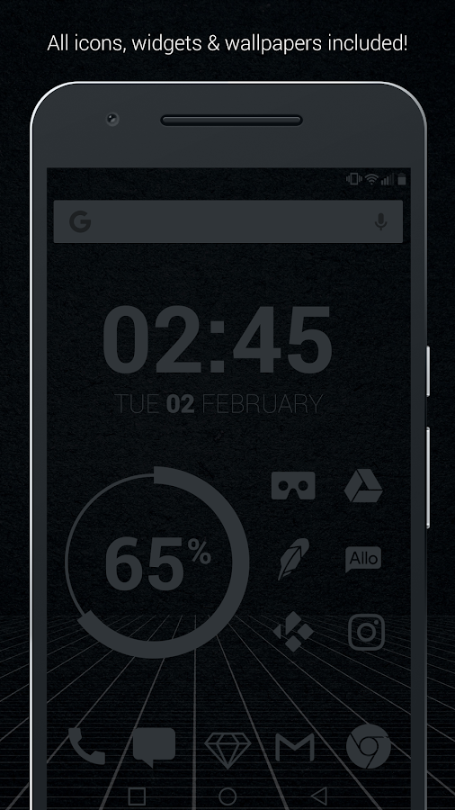 Murdered Out Pro - Dark Icons Screenshot 0