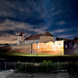 Fagaras Castle by Sorin Lazar Photography - Buildings & Architecture Public & Historical ( building, old, colors, wallpaper, beautiful, romania, scenic, travel, museum, architecture, attraction, historic, photography, relief, brasov, lights, history, monuments, ancient, sky, nature, feudal, castle, historical )