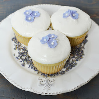 Lavender Cupcakes With Lavender Buttercream Frosting
