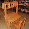 Детская мебель: парта с пеналом надстройкой и стулом (Школярик 1)