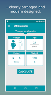 BMI Calculator - Weight Diary Fitness app screenshot for Android