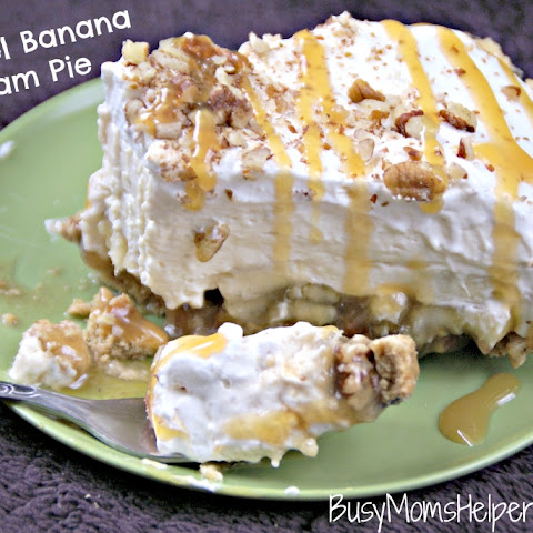 Caramel Banana Cream Pie