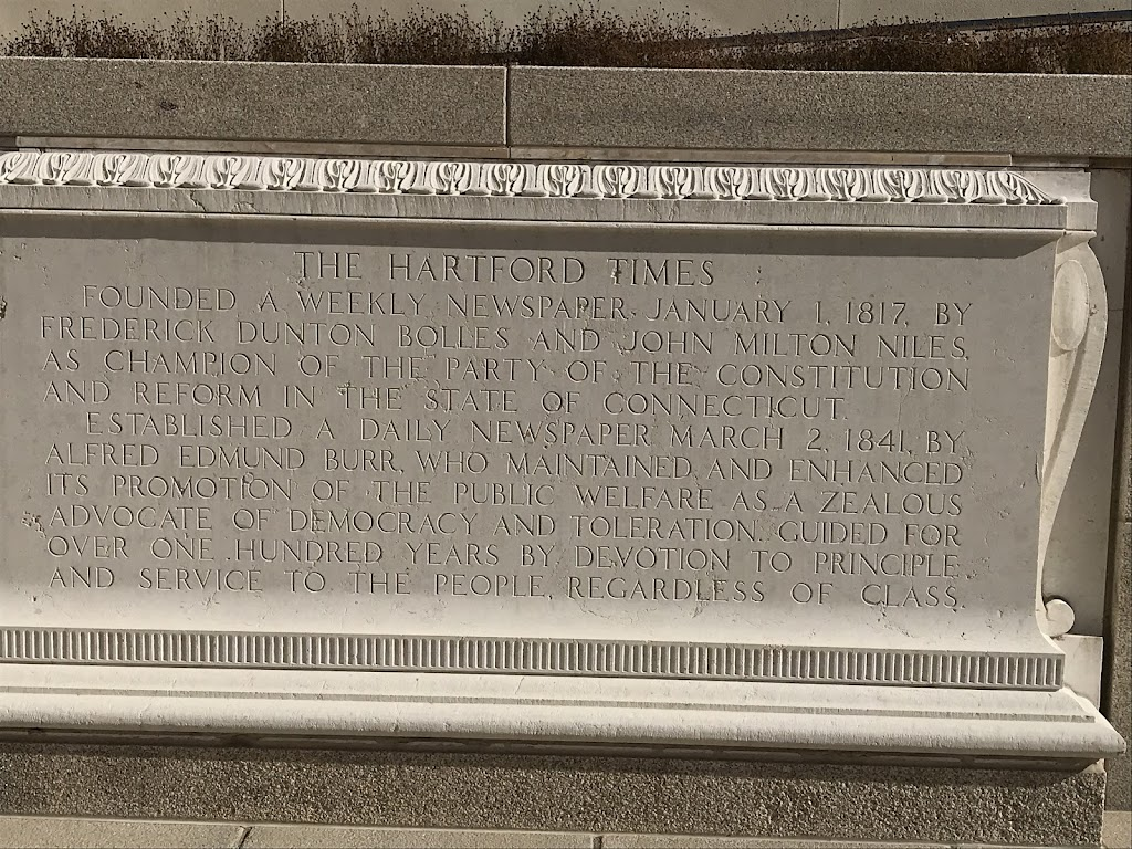 The Hartford TimesFounded a weekly newspaper January 1, 1817, by Frederick Dunton Bolles and John Milton Niles. A champion of the party of the Constitution and reform in the state of Connecticut. ...