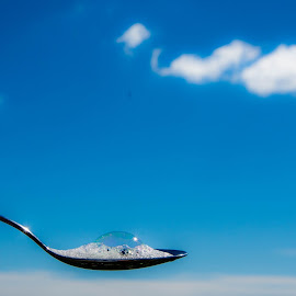 Spoon by Staffan Håkansson - Digital Art Things ( sky, blue, spoon, clouds, bubbles )
