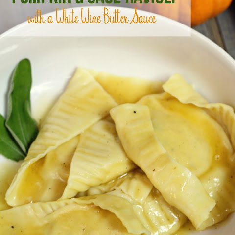 Pumpkin & Sage Ravioli with White Wine Butter Sauce