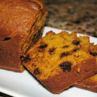 Lighten Up! Pumpkin Chocolate Chip Quick Bread
