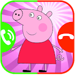 call from peppa - daddy pig and pepe pig fake call Icon