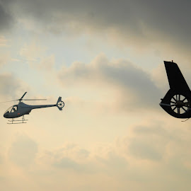 Cloudy Weather by Joie Negru - Transportation Helicopters ( cloudy weather flying, aeromania 2015 )