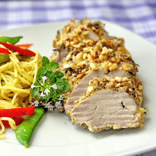 Almond Herb Crusted Pork Tenderloin