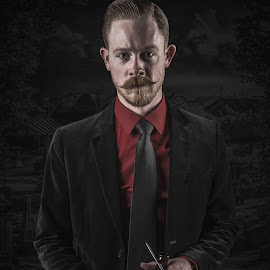 Dapper Doyle by Jeremy Brown - People Portraits of Men ( dapper, fashion, sleek, dapper doyle, mustache )