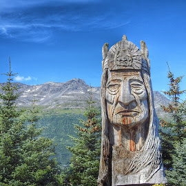 Whispering Giant by Patricia Phillips - Artistic Objects Other Objects ( statues whispering giants alaska. )