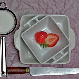 strawberries by Joseph Muller - Food & Drink Fruits & Vegetables ( fruit, red, season, strawberries, summer, tasty ..., fun,  )
