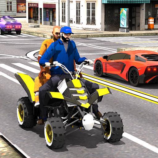ATV Quad Bike: Modern City Taxi Driver