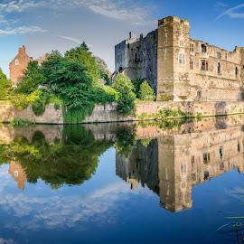 Newark Castle by Tony Walker - Buildings & Architecture Public & Historical ( notts, newark, castle, reflections, river trent, civil war, bridge )
