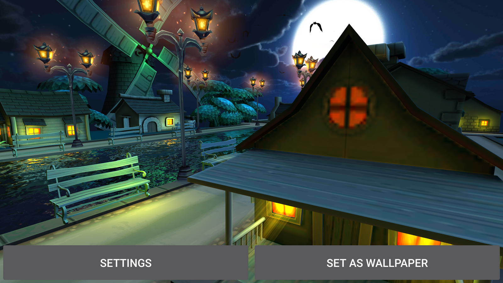 Cartoon Night Live Wallpaper Screenshot 14
