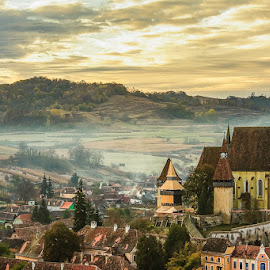 Biertam Fortified Church Romania by An Vo - Landscapes Travel ( biertam, romania, sunrise, landscapes,  )