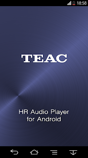 TEAC HR Audio Player Screenshot