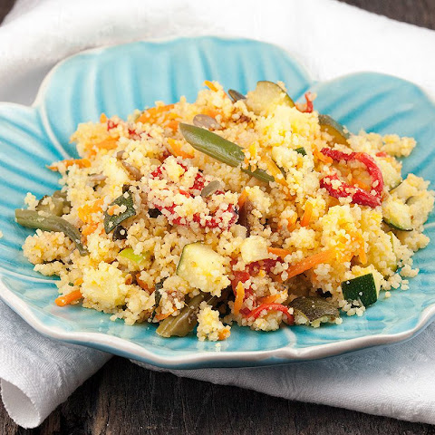 Vegetarian Couscous With Apple And Green Beans