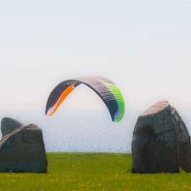 by Staffan Håkansson - Sports & Fitness Other Sports ( baltic sea, paraglider, kaseberga, ale stone, astronomy )