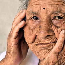 by দ্বিজেন মহন্ত - People Portraits of Women ( portait, portraits of women, emotional, emotions, age, portraits, people, smiles, women, portrait, emotion, aged )