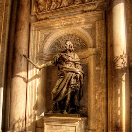 Philippo IV by Darin Williams - Buildings & Architecture Statues & Monuments ( santa maria maggiore, statue, church, rome, philip iv )