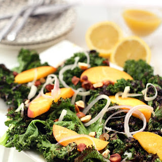 Grilled Kale Salad with Lemon Vinaigrette