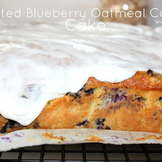 ~Frosted Blueberry Oatmeal 'Cookie' Cake!