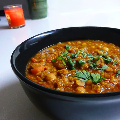Moroccan Lentil Soup with Preserved Lemon and Quinoa